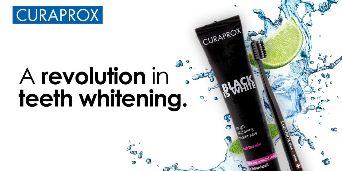 Image of Curaprox Black is White Charcoal Toothpaste